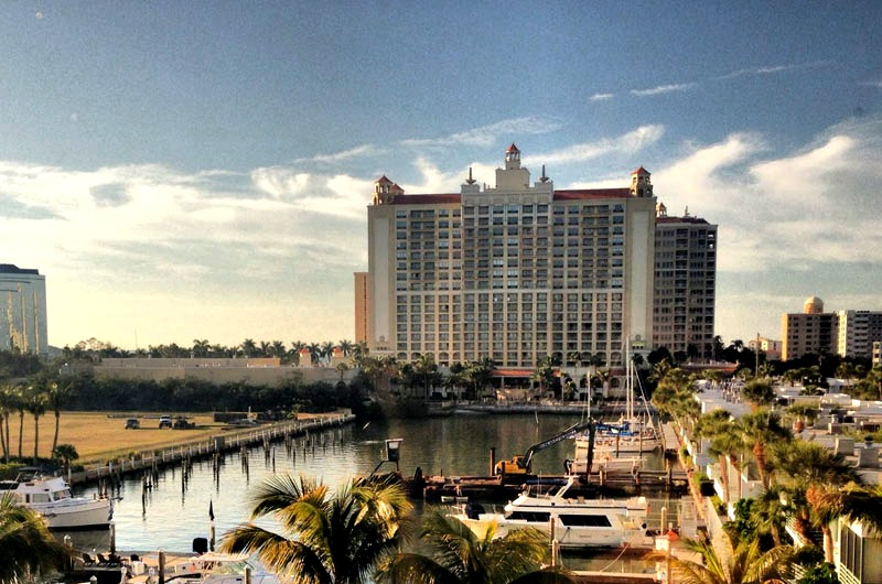 Bay view of Hyatt Regency in Sarasota FL