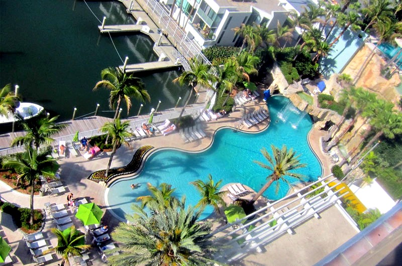 Arial view of pool at Hyatt Regency in Sarasota FL