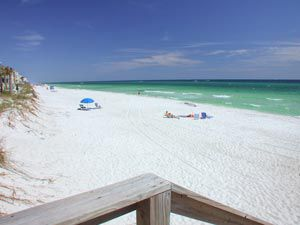 The beach at Seacove Condominium and Townhomes in Destin Florida