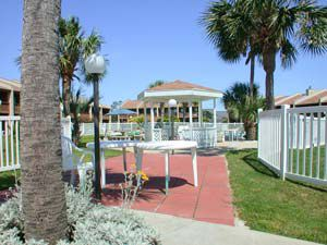 Grilling area with Gazebo at Seacove Condominium and Townhomes in Destin Florida
