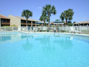 One of two swimming pools at Seacove Condominium and Townhomes in Destin Florida