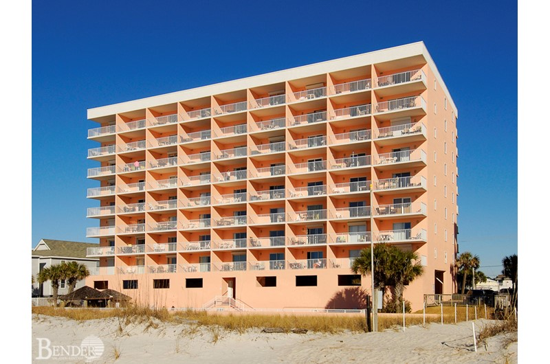 SeaCrest Condos in Gulf Shores from the beach