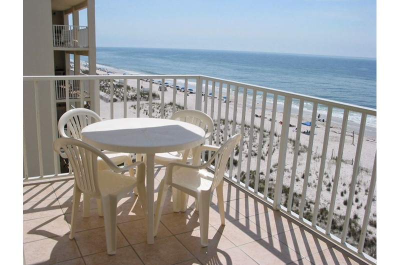 Enjoy beach views from your balcony at SeaCrest in Gulf Shores AL