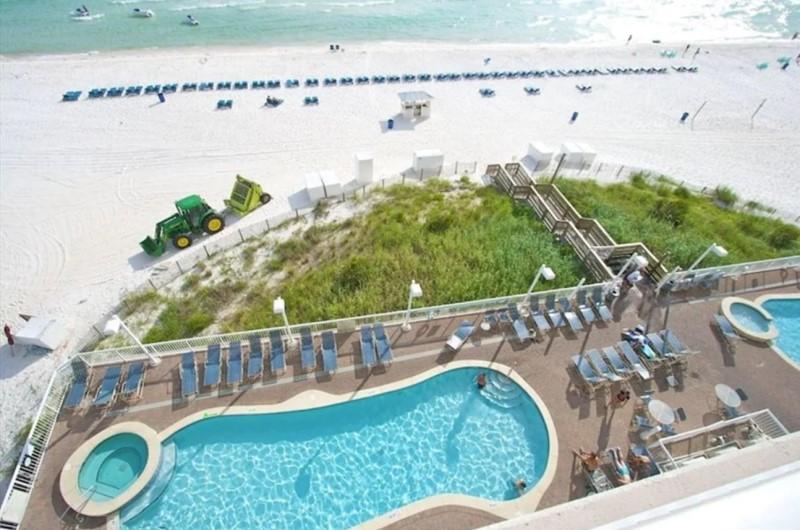 Seychelles Beach Resort and Condominium Beachfront Pool in PCB