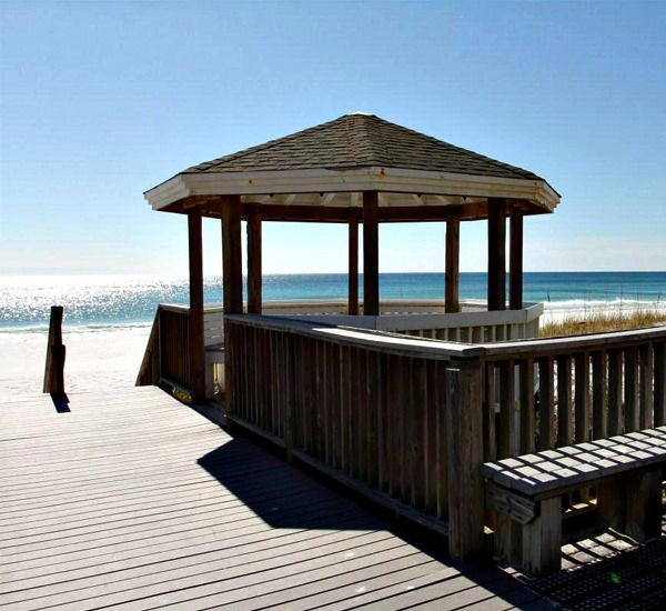 Boardwalk to the beach at Southbay by the Gulf in Destin Florida
