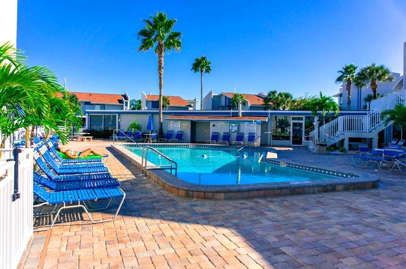 Pool view at Madeira Beach Yacht Club in Madeira Beach FL