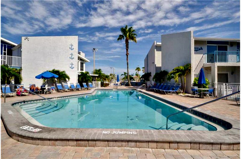 View of pool at Madeira Beach and Yacht Club in Madeira Beach FL