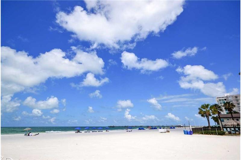 Expansive beach from Sea Rocket in N. Redington Beach Florida