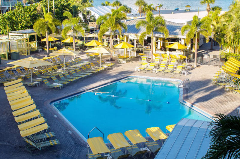 Beachside pool at Sirata Beach Resort in St. Pete Beach FL