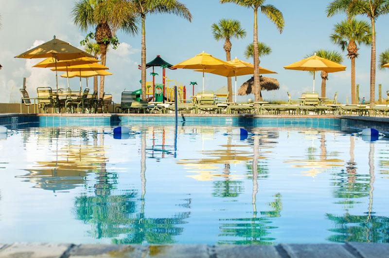 Beachfront pool at Sirata Beach Resort in St. Pete Beach FL