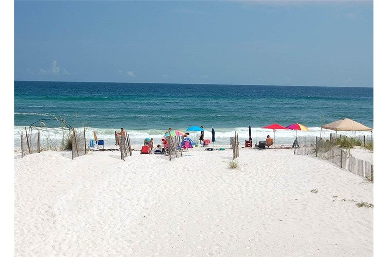 Enjoy the sugar white sands outside our door at Sundial in Gulf Shores AL