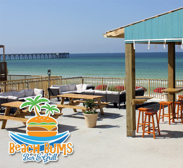Beachfront bar at The Chateau in Panama City Beach Florida