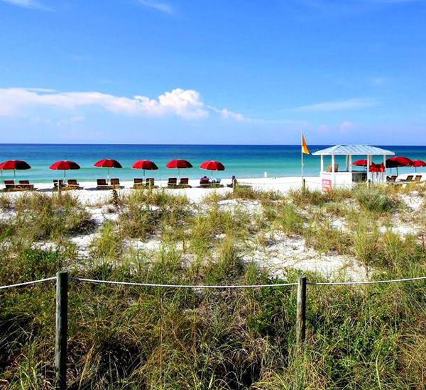 Beach services at The Chateau  in Panama City Beach Florida
