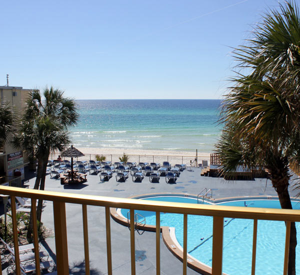 Beachfront pool at The Chateau in Panama City Beach FL