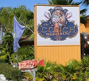 The Conch Republic Grill & Raw Bar in St. Pete Beach Florida