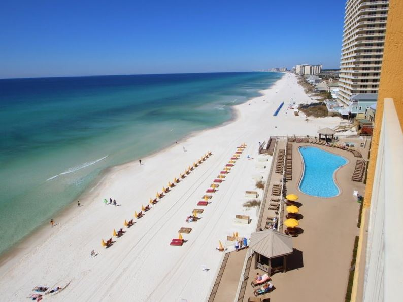 Treasure Island 1709 2 Bedrooms Beachfront Wi-Fi Pool Sleeps 8 Condo rental in Treasure Island - Panama City Beach in Panama City Beach Florida - #1