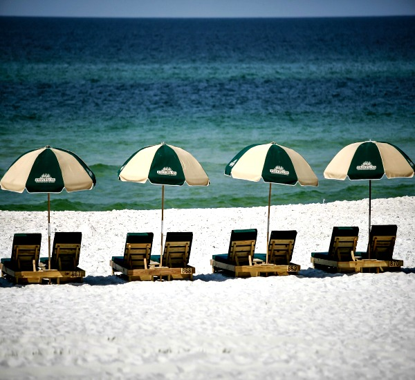 Beach service at Twin Palms in Panama City Beach FL