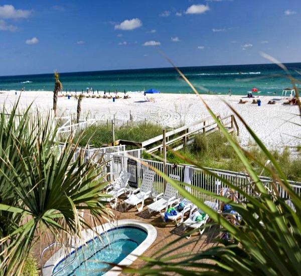 Beach view at Twin Palms in Panama City Beach FL