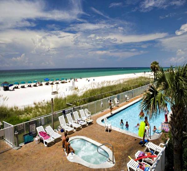 Twin Palms beachfront pool in Panama City Beach FL