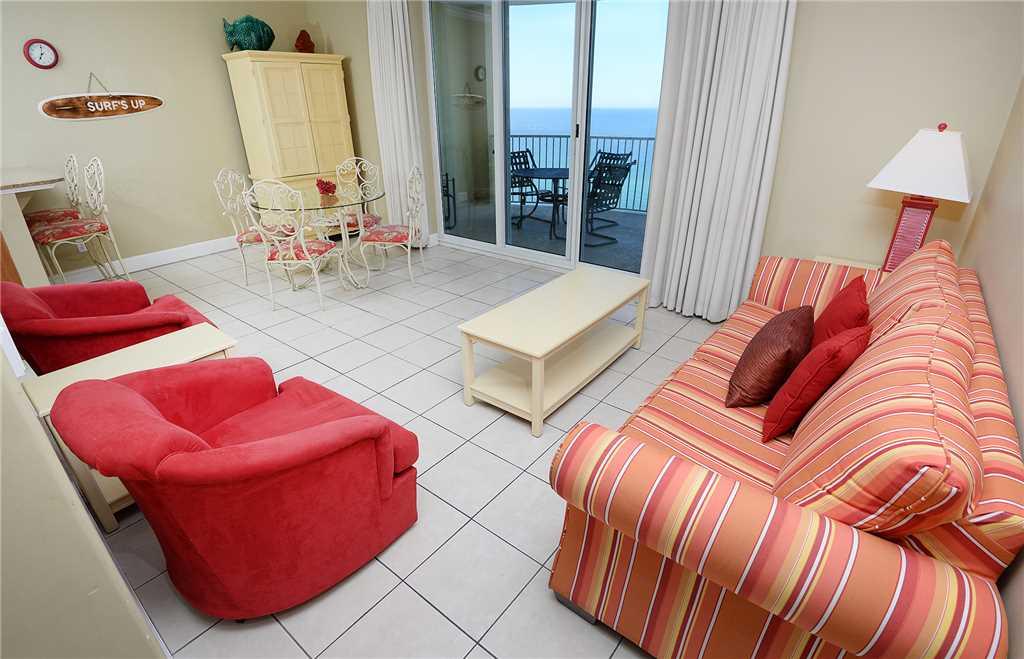 Twin Palms 1703 1 BR Beachfront Free Beach Chairs Sleeps 6