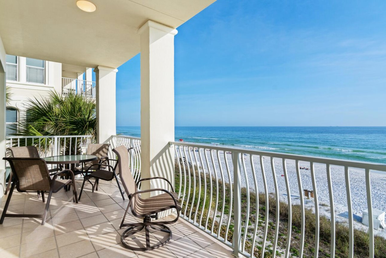 Villas at Santa Rosa Beach Rentals in Highway 30-A Florida Balcony