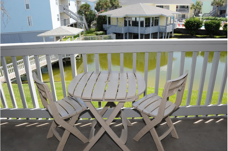 Pretty balcony views at Villas on the Gulf in Pensacola Beach Florida