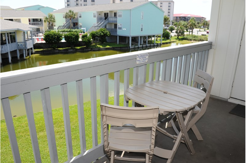 Lovely view from your balcony at Villas on the Gulf in Pensacola Beach Florida