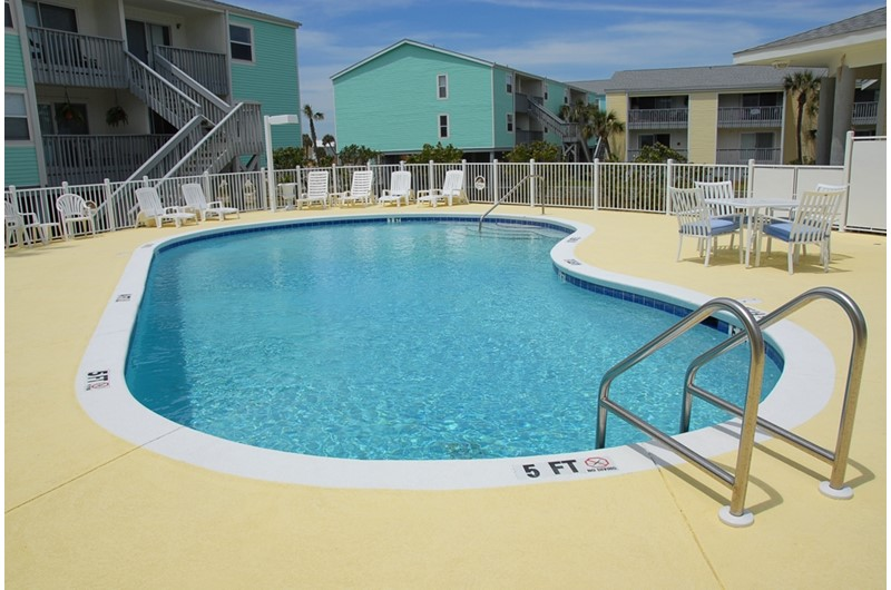 Get your pool time in at Villas on the Gulf in Pensacola Beach Florida