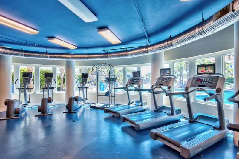 Waterscape Fitness Center Overlooking the Pool