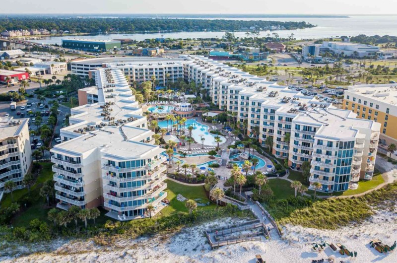 Beachfront Waterscape Aerial View in Fort Walton Florida