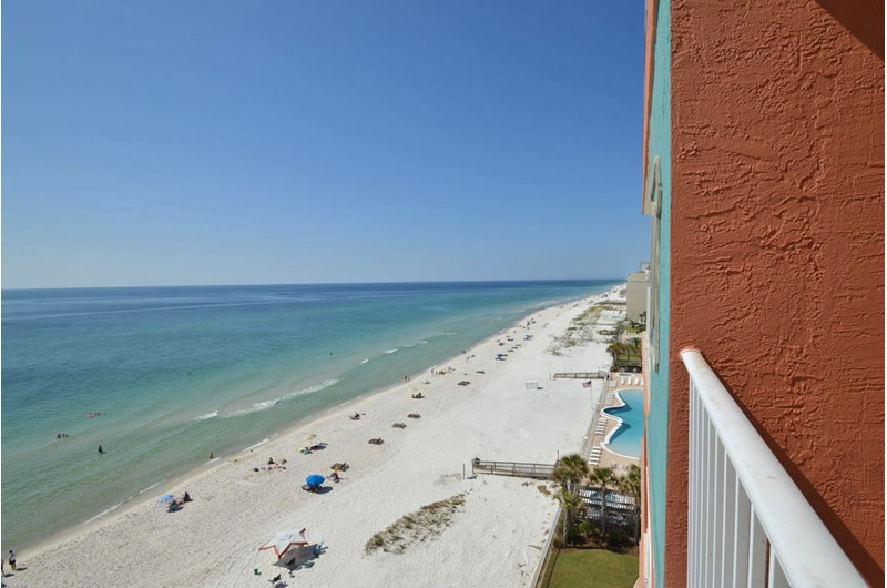 Beautiful Gulf vistas from Westwind Condominiums in Gulf Shores Alabama